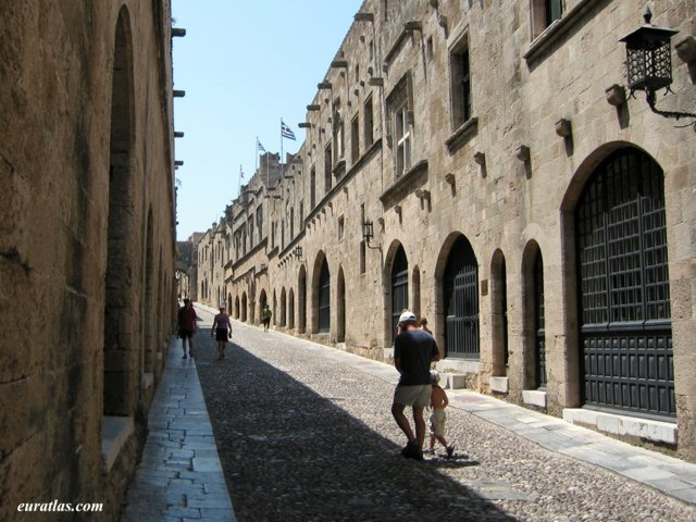 Click to download the Rhodes, the Knight's Street in the Medieval Town