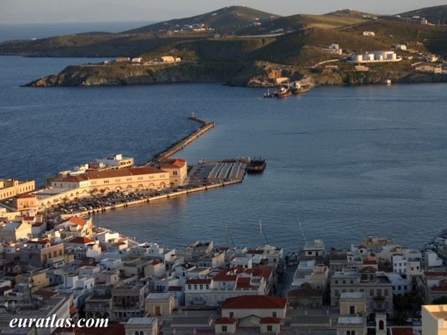 Click to download the The Port of Ermoupolis in Syros