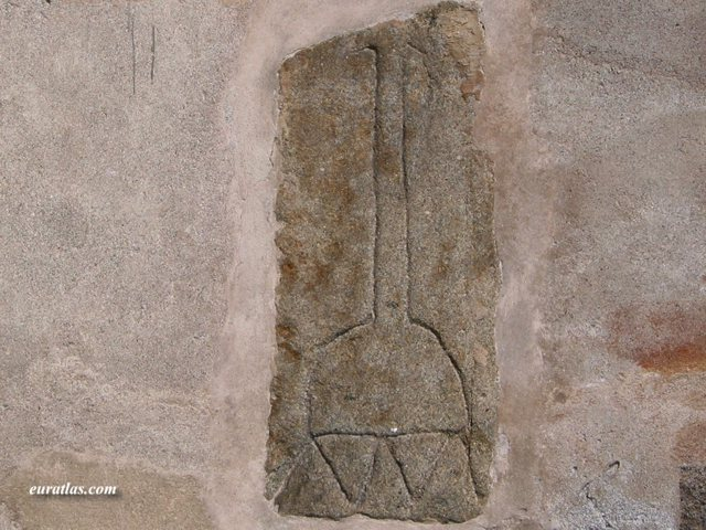 Click to download the  Prehistoric Idol in the Wall of the Church, Lauriacum