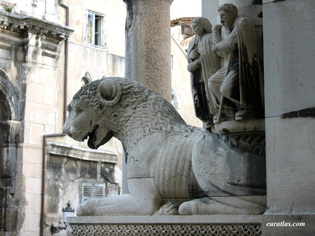Click to download the A Medieval Lion, Split Cathedral