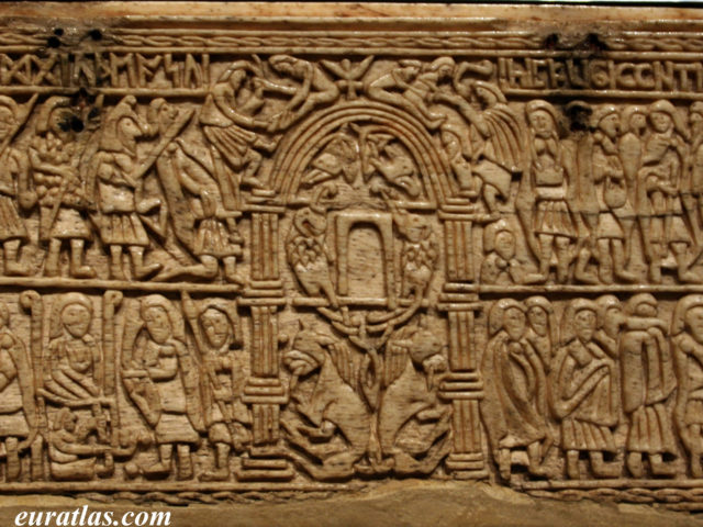 Click to download the Franks Casket, about 650 A. D.