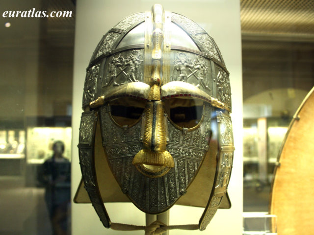 Click to download the The Helmet of Raedwald, King of Estanglia, about 620 A. D., British Museum