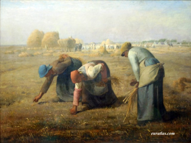 Click to download the The Gleaners by Jean-François Millet, 1857