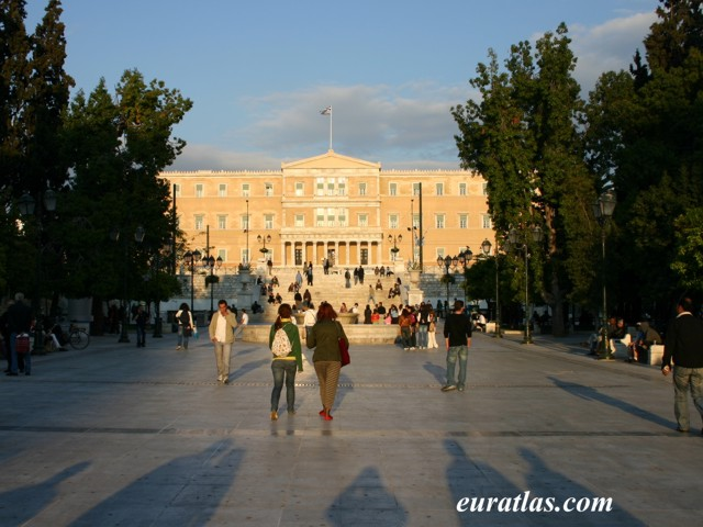 Click to download the Syntagma or Constitution Square with the Parliament, Athens