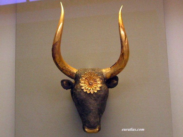 Click to download the A Bull Head Mycenaean Rython