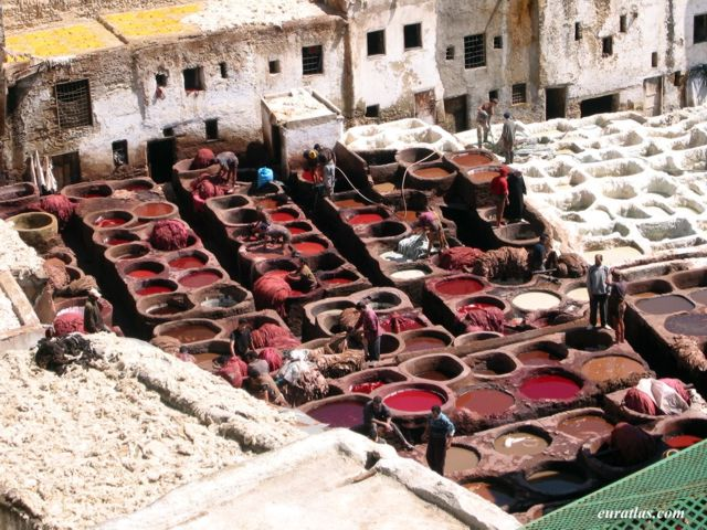 Click to download the The Tanneries in Fes-el-Bali
