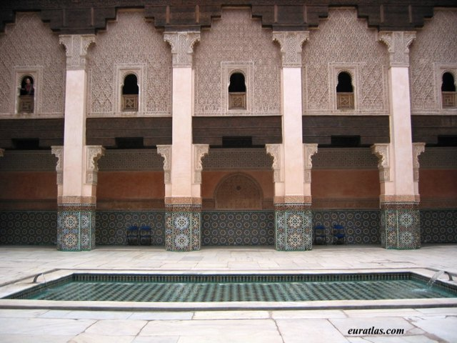 Click to download the The Patio of the Medersa Ben Youssef in Marrakech