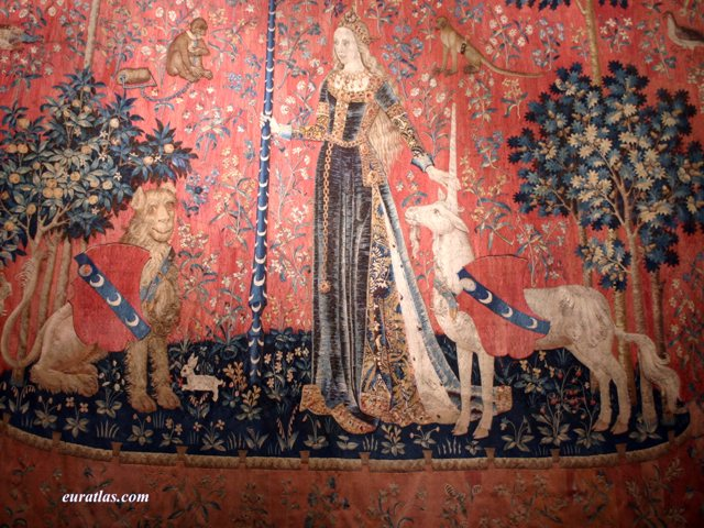 Click to download the The Lady and the Unicorn Tapestry, ca. 1490