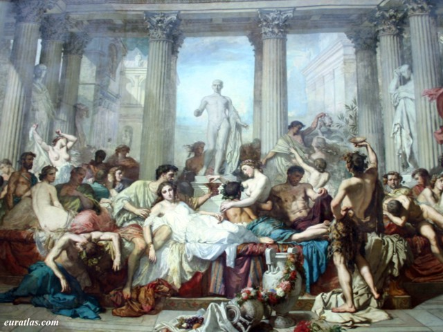Click to download the Romans in the Decadence by Thomas couture, Musée d'Orsay