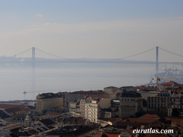Click to download the 25th of April Bridge from the Castle of São Jorge