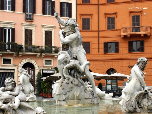 Click to download the Fountain of Neptune (1574) on Piazza Navona