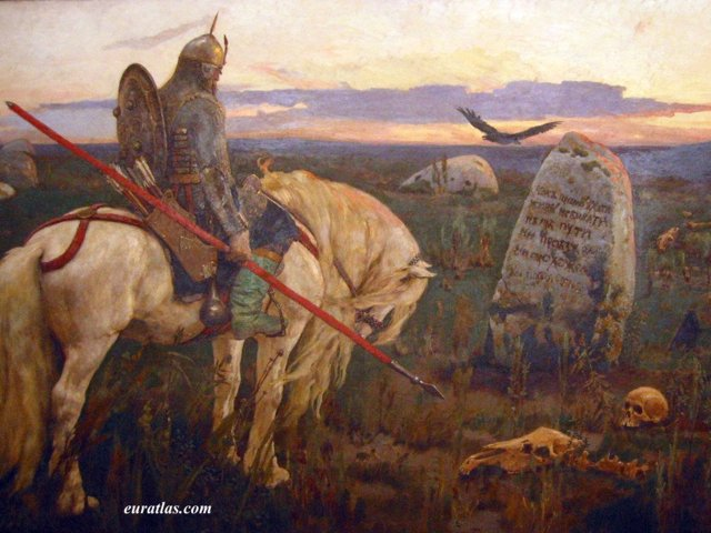 Click to download the A Knight at the Crossroads by Viktor Vasnetsov