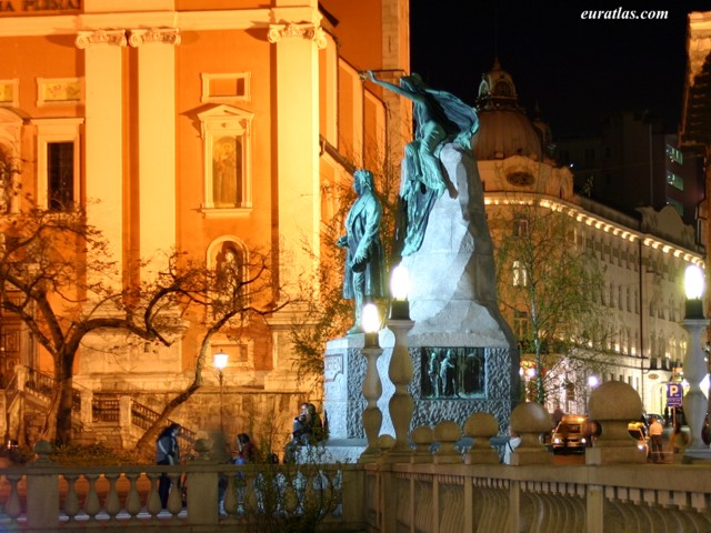 Click to download the The Statue of France Preseren, Ljubljana