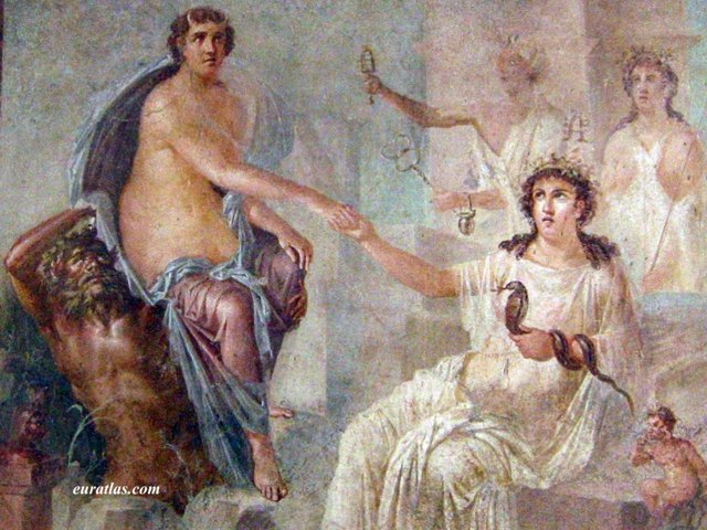 Click to download the Herculaneum, Roman Fresco with Artemis