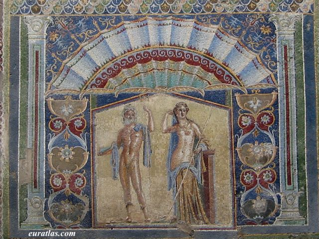 Click to download the Herculaneum, Mosaic of Neptune and Amphitrite