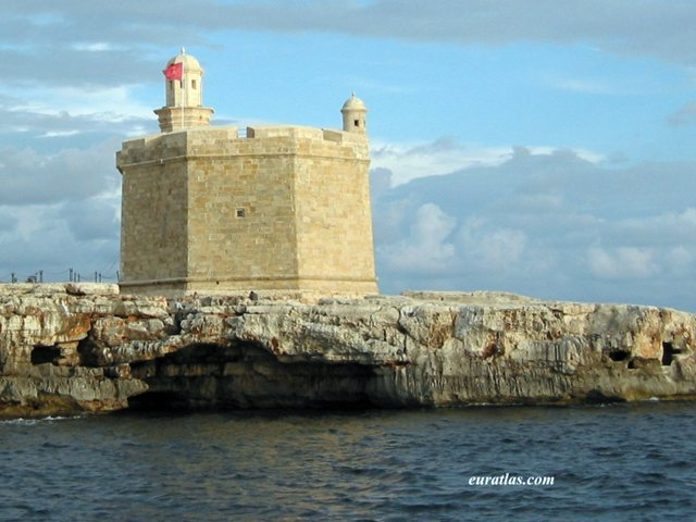 Click to download the The Castell de Sant Nicolau, Defence Tower in Front of Ciutadella