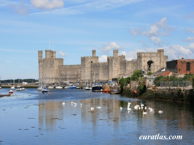 Click to download the Carnarfon Castle from the River Seiont