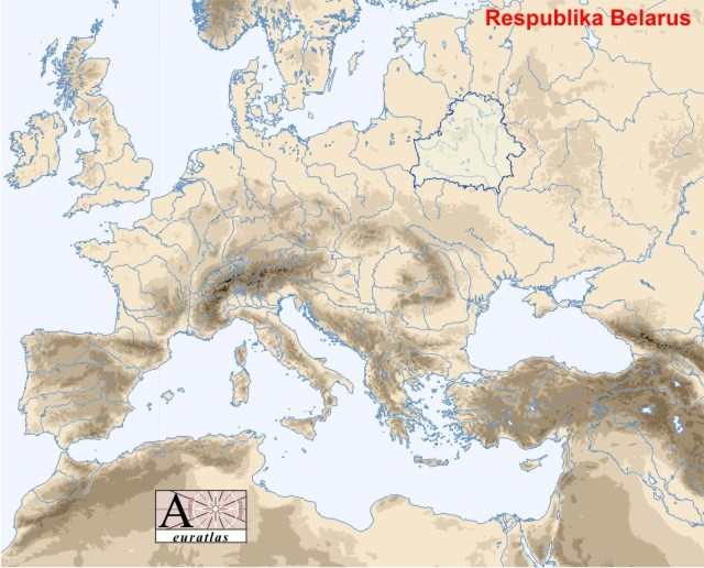 Carte Europe Bielorussie.Atlas Physique De L Europe Les Pays D Europe Bielorussie