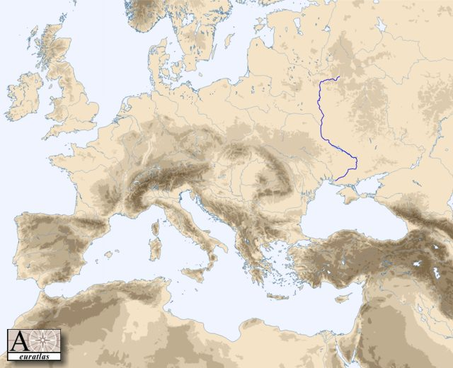 Physical atlas of europe general hydrography dnieper the river dnieper publicscrutiny Gallery
