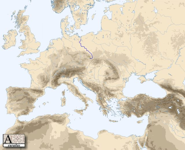 Physical Atlas of Europe: general hydrography - Oder