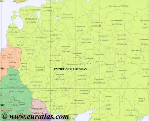 map northeast 1800
