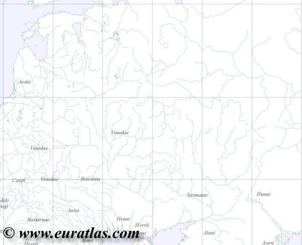 Northeastern Europe Map In Year 400